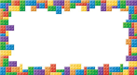 Colored block picture frame in a rectangular shape format Stock Photo