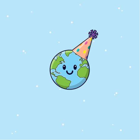 Happy Earth Day Globe Cartoon Zdjęcie Seryjne