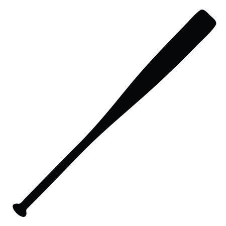 A black and white silhouette of a baseball bat 版權商用圖片 - 84618338