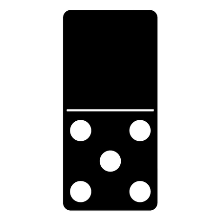 A black and white silhouette of Domino game piece Çizim