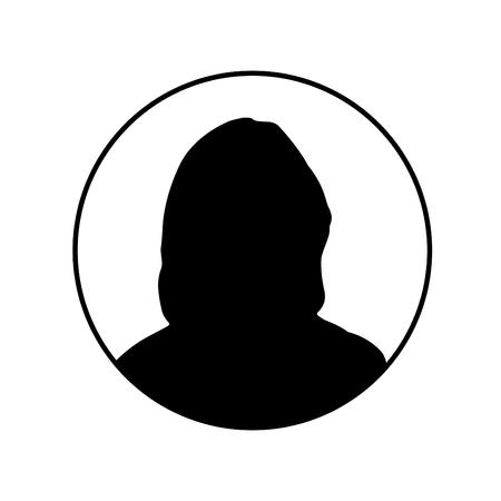 Profile picture silhouette - Female Illustration