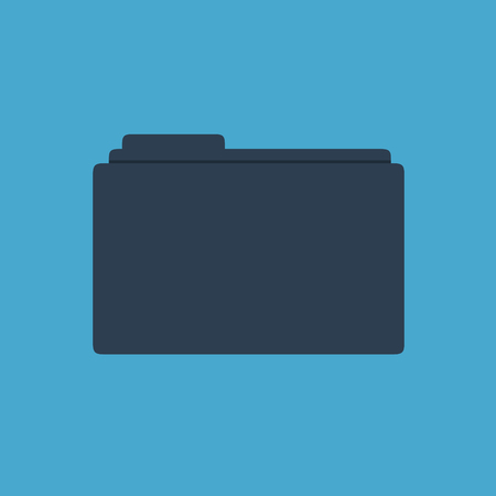 Dark blue folder on a light blue background