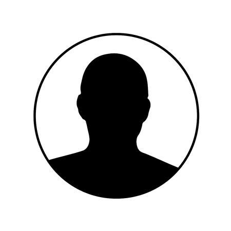 Profile picture silhouette - Male