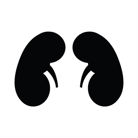 A black and white pair of kidneys.