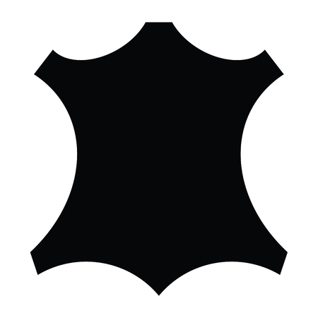 A black and white leather symbol