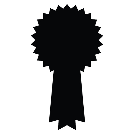 A black and white silhouette of a rosette