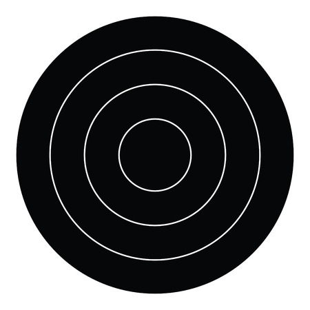 A black and white silhouette of a target Illustration