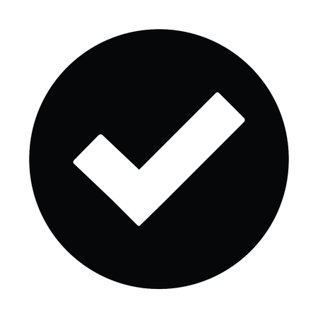 A black and white silhouette of a tick button