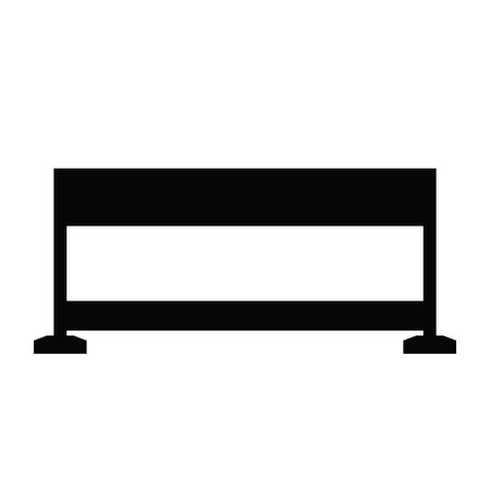 A black and white silhouette of a barrier