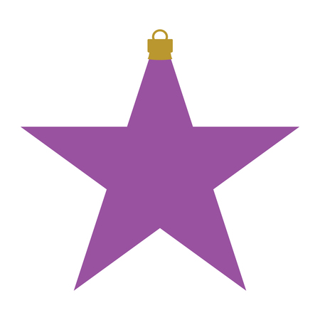 A pink and gold star-shaped Christmas bauble Illustration