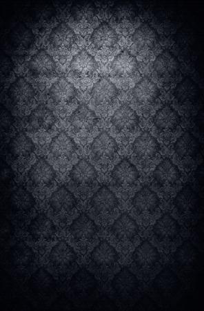 antiek behang: Retro style grungy old antique wallpaper background Stockfoto