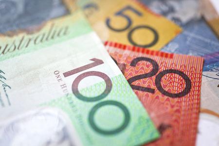 stack of dollars: Stack of Australian dollars