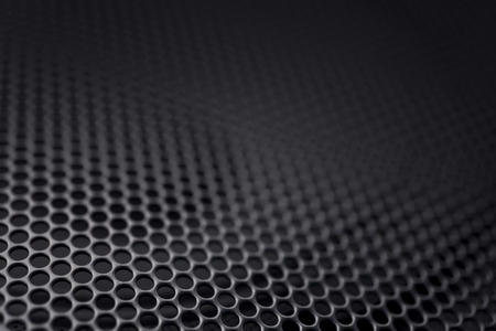 grille: Black speaker grille background Stock Photo