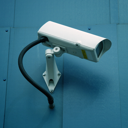 closed circuit television: Closed circuit television security camera in London, England