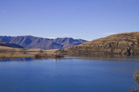 the south island: Wanaka landscape scenery, South Island, New Zealand Stock Photo