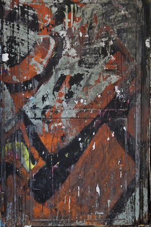 spraypaint: Graffiti on a rough textured city wall background