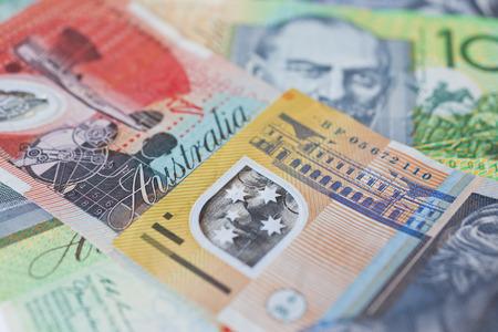 australian dollars: Stack of Australian dollars