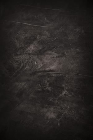 Dark rough grunge painted abstract black art background