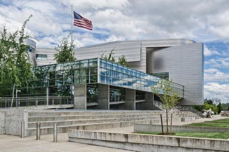 EUGENE, OR - JUNE 27, 2013 Wayne Morse Federal Courthouse on June 27, 2013. Architect: Thom Mayne.