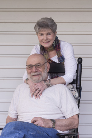 Warm portrait of a loving couple in their eighties.