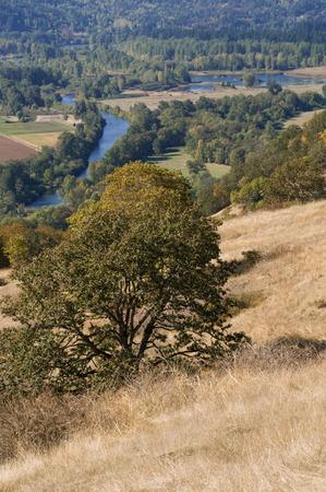 The Oregon countryside seen from Mt. Pisgah. Standard-Bild