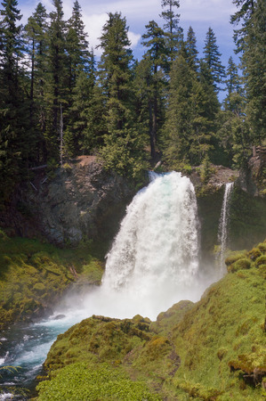 Sahalie Falls is a popular tourist attraction along the McKenzie River outside of Eugene Oregon.