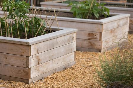 Unique custom designed raised garden beds.