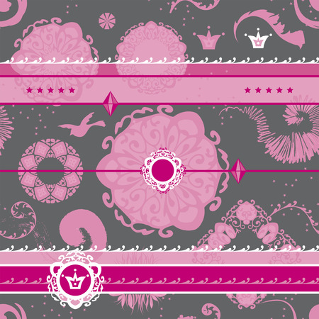Repeating Pattern Background Pink Fancy Illustration
