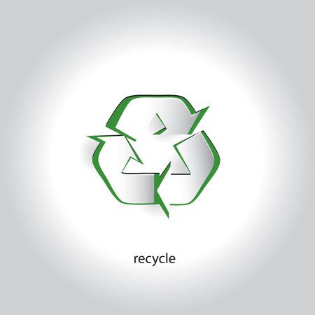 リサイクル シンボル アート紙アイコン デザイン