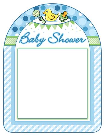 standards: Baby shower boy frame print sheet