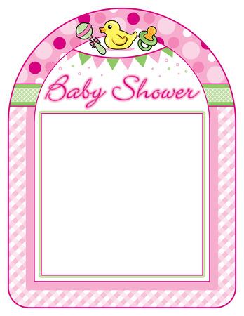 Baby shower girl frame print sheet