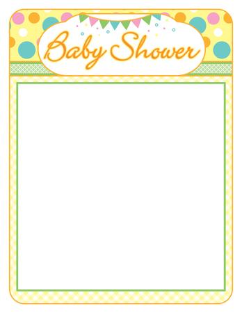 Baby shower neutral boy or girl frame print sheet Illustration
