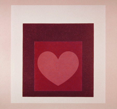 Pink heart with red squares