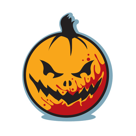 Halloween scary bloody jack o lantern pumpkin Illustration