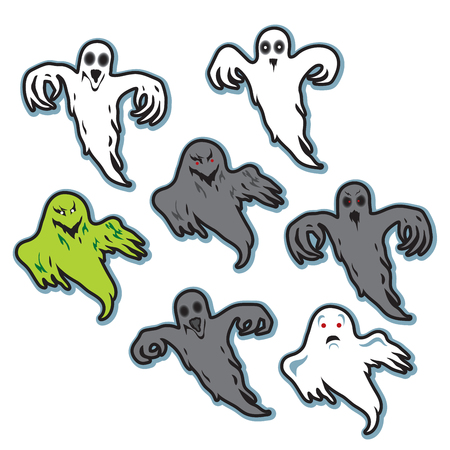Halloween spooky creepy ghosts