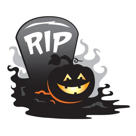 Halloween tombstone gravestone pumpkin grouping