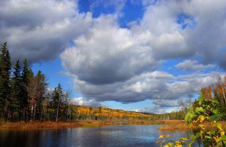 Autumn on Mud Lake, near Sussex, New Brunswick, Canada.