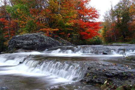 Autumn waterfalls at Waterford, New Brunswick, Canada. Imagens