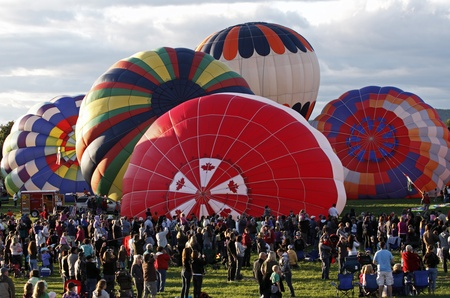 SUSSEX, CANADA - SEPTEMBER 10, 2011 - Evening launch at the Atlantic International Balloon Fiesta on September 10, 2011 in Sussex, Canada. Editorial