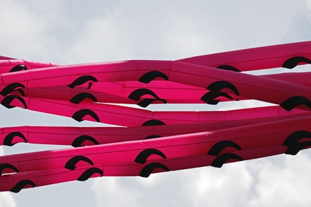 DIEPPE, CANADA - AUGUST 14, 2011 - Tube-shaped tentacles at the 2011 Dieppe Kite International on August 14, 2011 in Dieppe, Canada. Stock Photo - 10677877