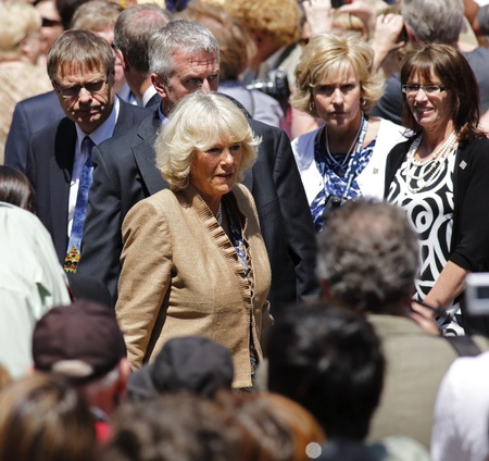 Saint John, Canada - May 21 - Camilla, Duchess of Cornwall, during a walkabout on Prince William Street on May 21, 2012 in Saint John, Canada.