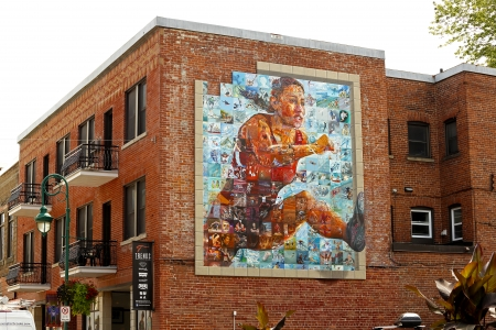 SHERBROOKE, CANADA - August 6: The National Mural Mosaic of the Canada Games August 6, 2013 in Sherbrooke, Canada.