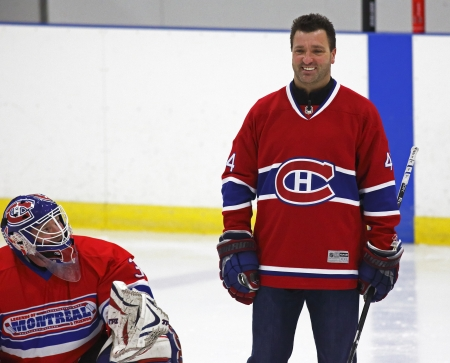 richer: Former National Hockey League star Stephane Richer is introduced at a hockey clinic in Sussex, New Brunswick, Canada, on Dec. 10, 2013. Richer was in the province as part of an NHL Legends tour.
