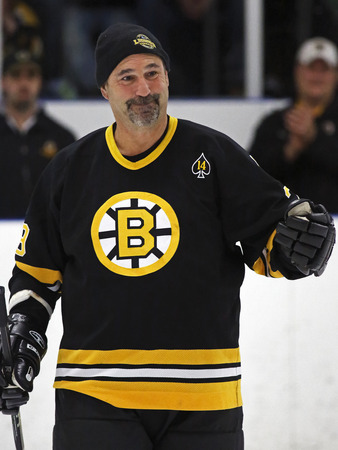 middleton: Former NHL star Jay Miller is introduced at a Boston Bruins alumni hockey game March 20, 2014 in Sussex, Canada. Editorial