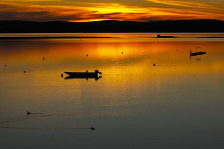 andrews: Sunset on the water at St. Andrews, New Brunswick, Canada.