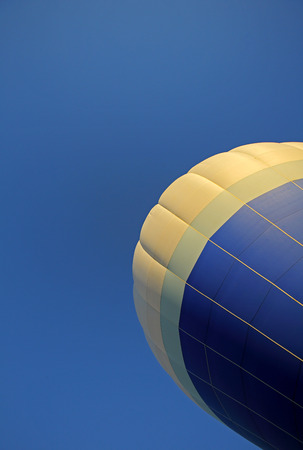Blue sky and hot air balloon at the 30th annual Atlantic International Balloon Fiesta in Sussex, New Brunswick, Canada, Sept. 12, 2015.