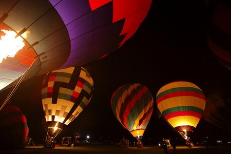 Night balloon glow at the 30th annual Atlantic International Balloon Fiesta in Sussex, New Brunswick, Canada, Sept. 12, 2015.