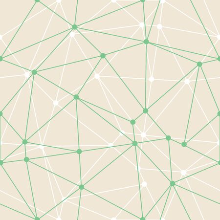 Vector Abstract Triangle Geometrical Green Thin Outlines with dots Background. Suitable for d wallpaper. Suitable for textile, gift wrap and wallpaper. Ilustración de vector