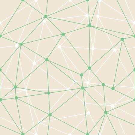 Vektor abstrakte Dreieck geometrische grüne dünne Konturen mit Punkten Hintergrund. Geeignet für d-Wallpaper. Geeignet für Textilien, Geschenkpapier und Tapeten. Vektorgrafik