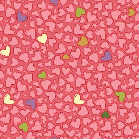 Vector light red heart repeat pattern. Suitable for gift wrap, textile and wallpaper. Wonderful design for valentines day.